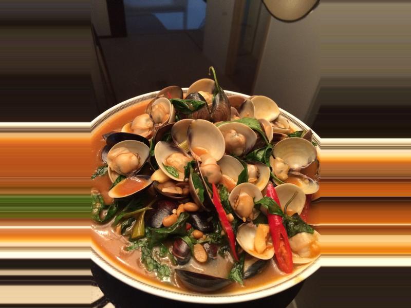 獨門豆瓣醬炒蛤蠣