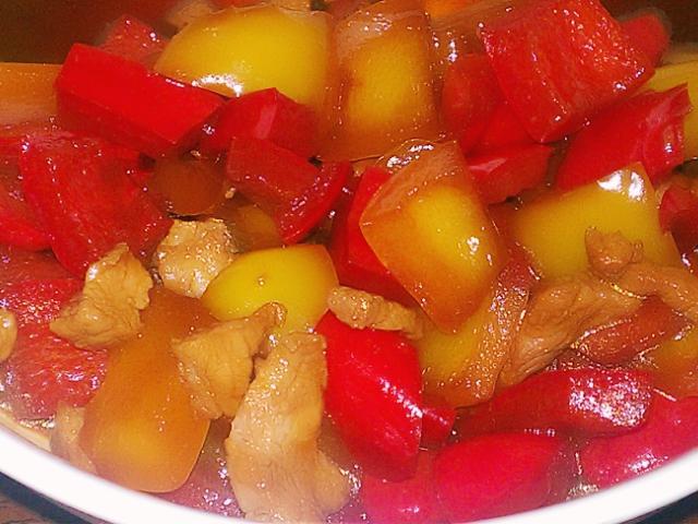 壽喜醬燒甜椒肉丁