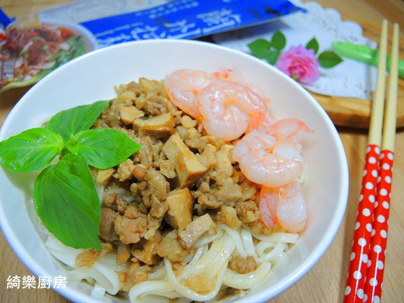 鮮蝦炸醬麵【五木麵條】