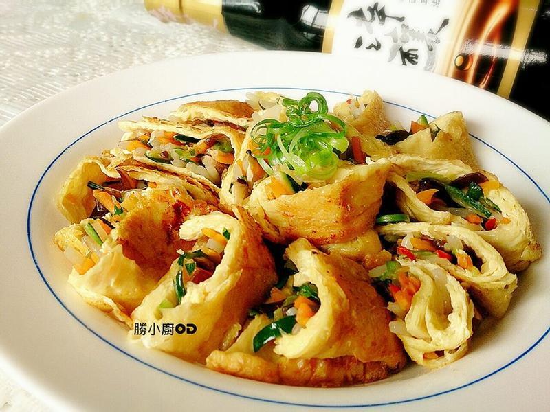 香煎豆包蔬菜捲『淬釀中式下午茶點』