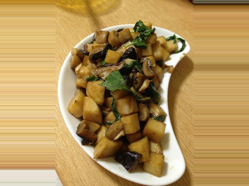 ~阿姐的菜~塔香雙菇燒筍