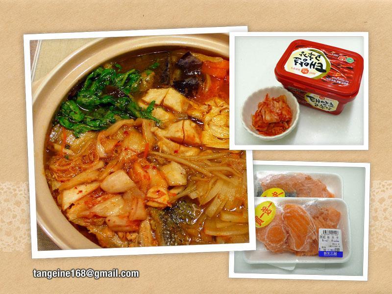 ♥砂鍋泡菜魚骨♥ + 選擇鍋底蔬菜