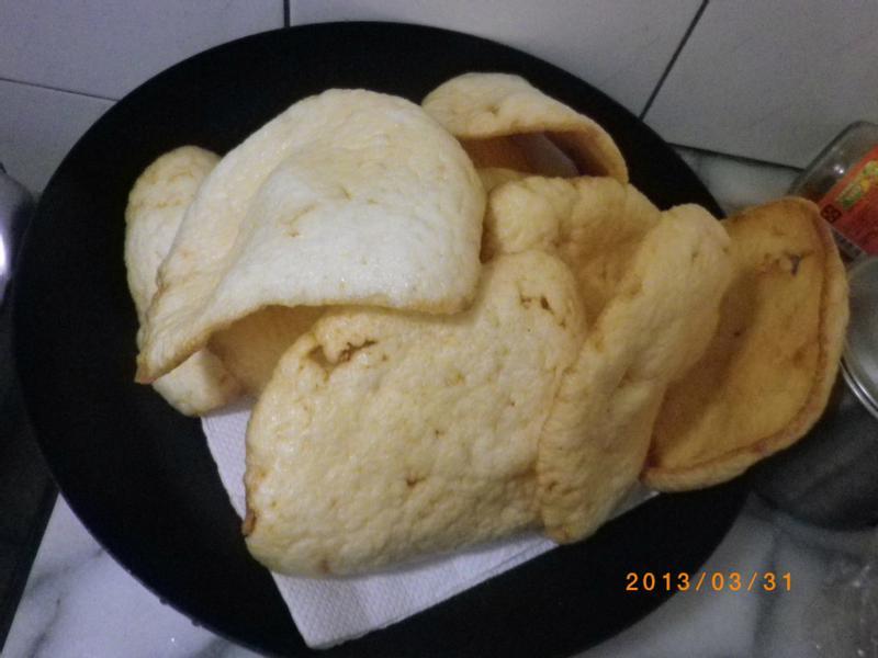 巴掌大的蝦餅