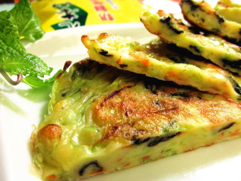 海苔蔬菜煎餅「元本山海苔」
