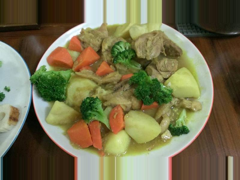 簡易蔬菜雞肉咖哩