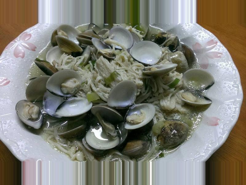 蛤蠣炒金針菇