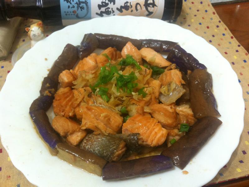 鮭魚茄子燒~時間淬釀的甘露之味