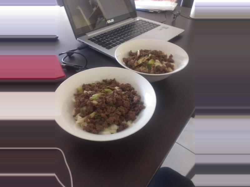 沙茶牛肉拌麵