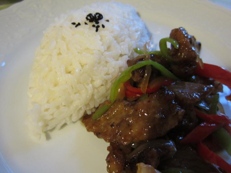 上班菜1---雙椒蠔油沙朗牛肉