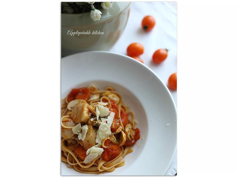 茄汁帶子扁意粉