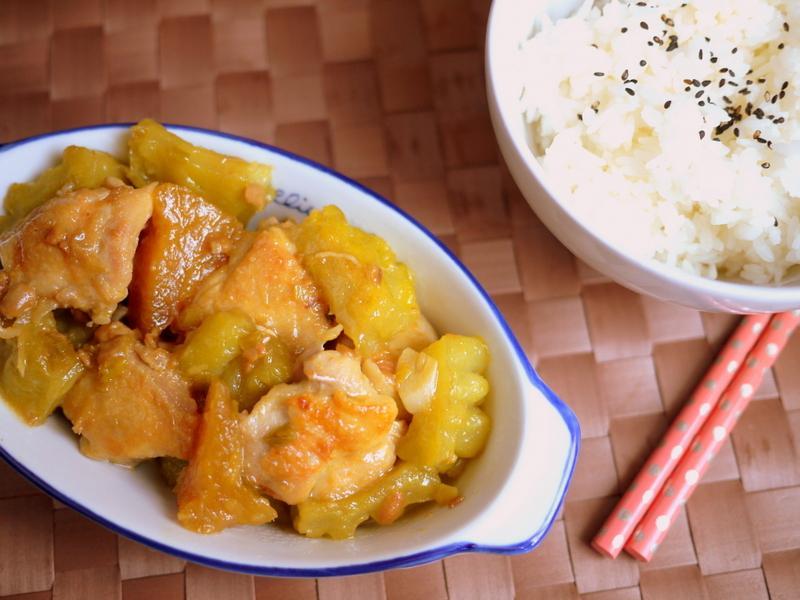鳳梨苦瓜燒雞[落建養髮料理]