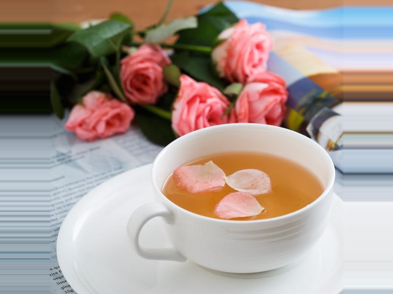 情人節版玫瑰花綠茶