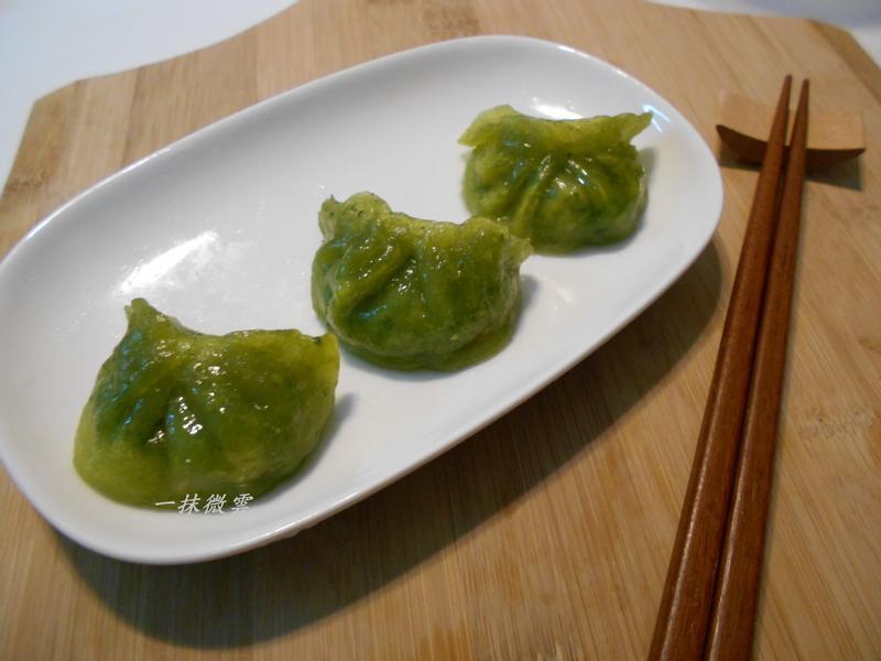 菠菜水晶餃