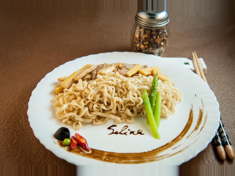 肉絲竹筍拌麵