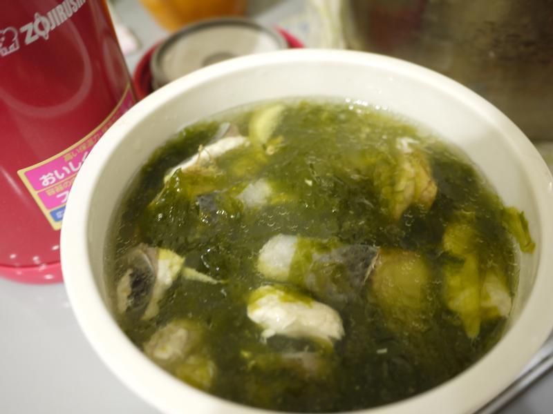 悶燒杯輕食--虱目魚海菜湯