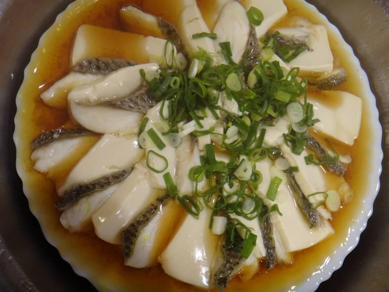 清蒸鯛魚豆腐(台灣養殖漁業發展基金會)