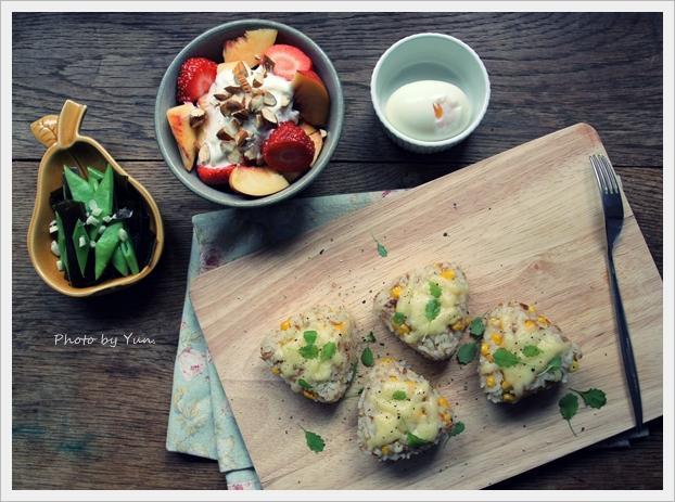 [Yun。在廚房]鮪魚玉米起司飯糰