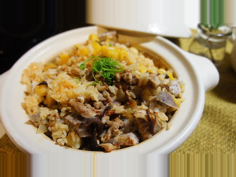 大甲芋頭三吃之一:芋頭野菜炊飯