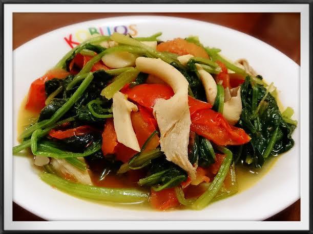 鮮菇炒蕃茄菠菜