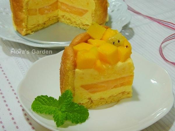 「鷹牌煉奶‧煉上水果香濃滋味」芒果煉奶冰淇淋蛋糕