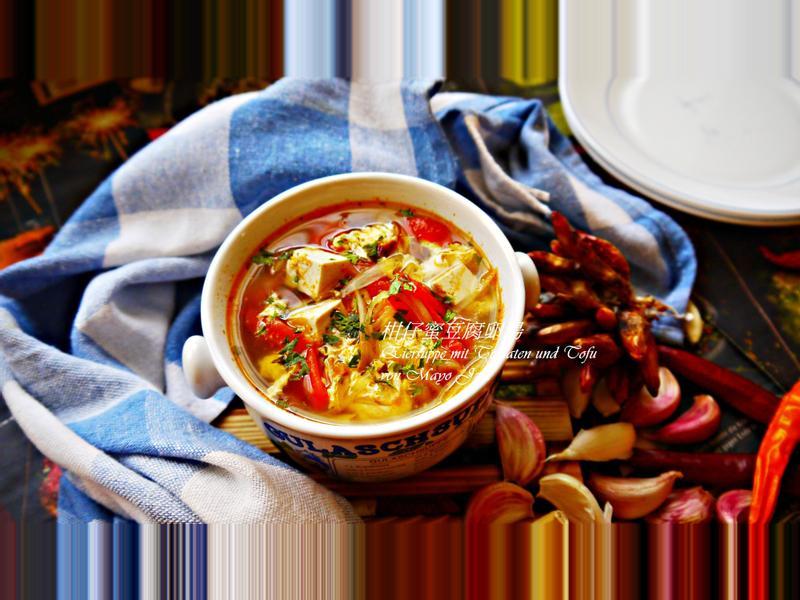 柑仔蜜豆腐卵湯