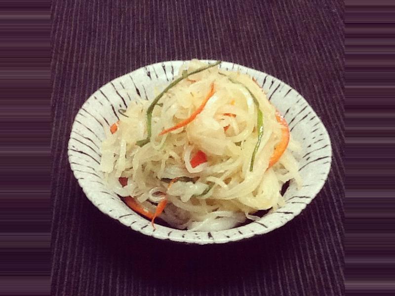 炒鹽漬白蘿蔔絲
