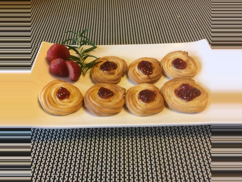 草莓醬料理之~果莓餅乾