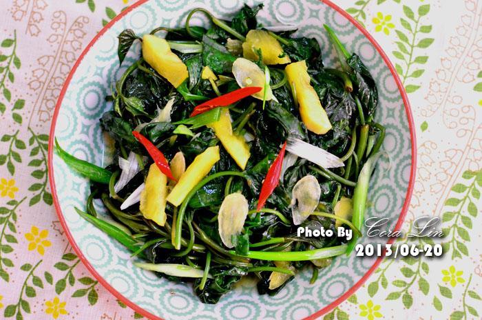 【可拉的鏡頭】米醬鳳梨拌地瓜葉
