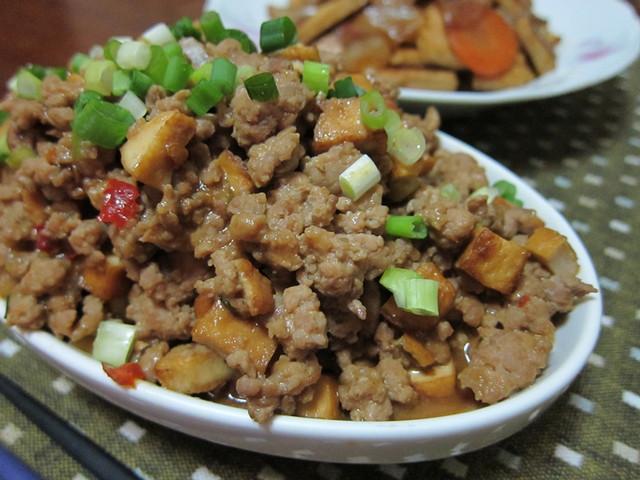 辣味噌豆干肉末