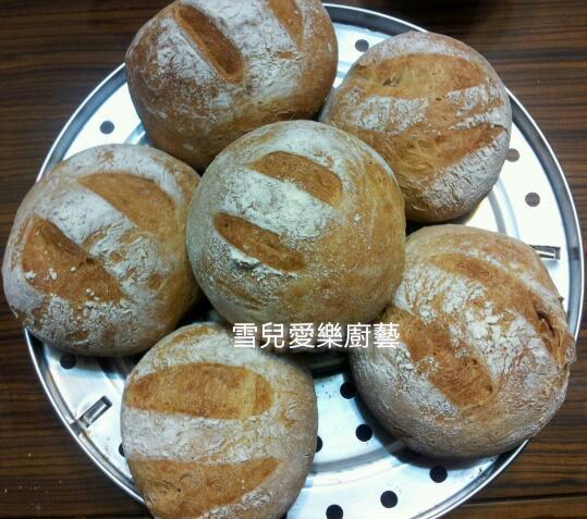 核桃鄉村免揉麵包【烘焙展食譜募集】