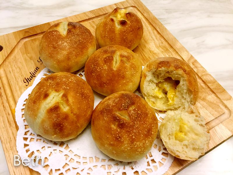 爆漿奶油起司麵包 - 不用麵包機