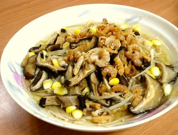 電鍋料理─蝦米金針香菇