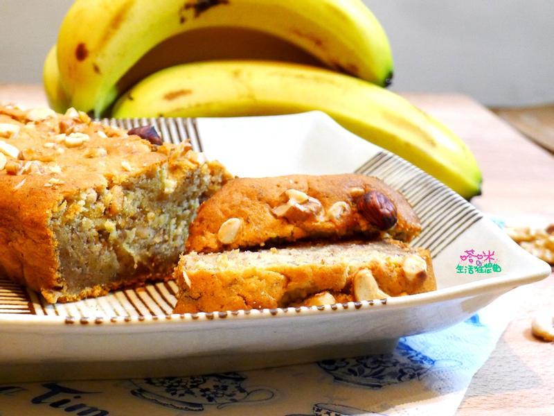 香蕉核果磅蛋糕