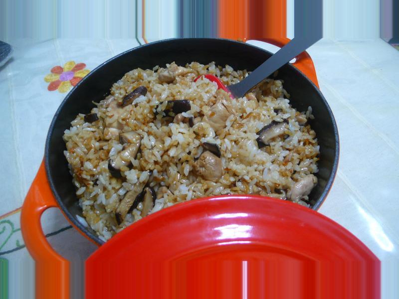 lanni  麻油雞肉香菇飯