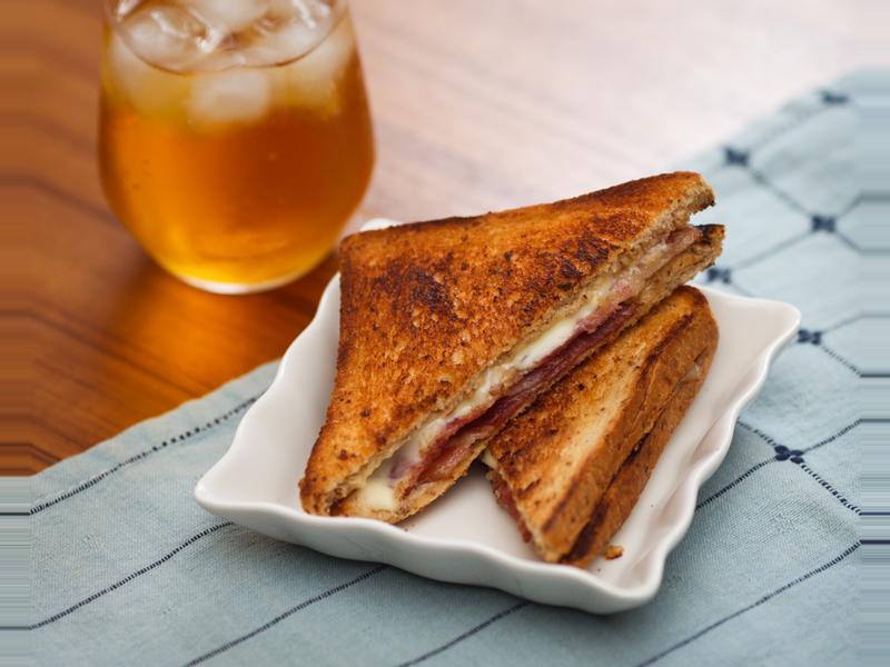 培根起司三明治 - 不用熱壓機
