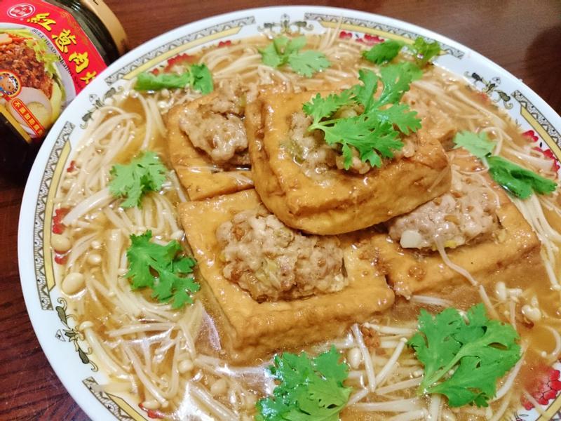 油豆腐鑲肉~『牛頭牌端午好香拌』