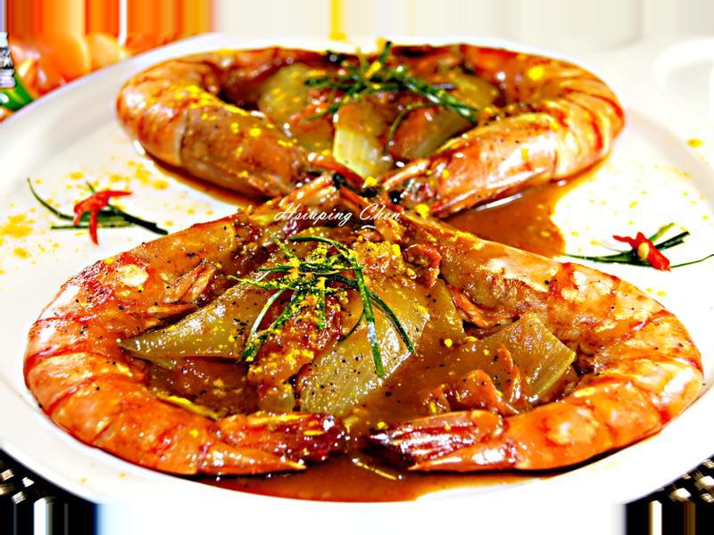 年菜-咖哩番茄蝦【可果美蕃茄鍋高湯】