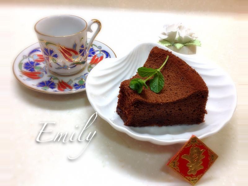 香醇的橙酒巧克力蛋糕