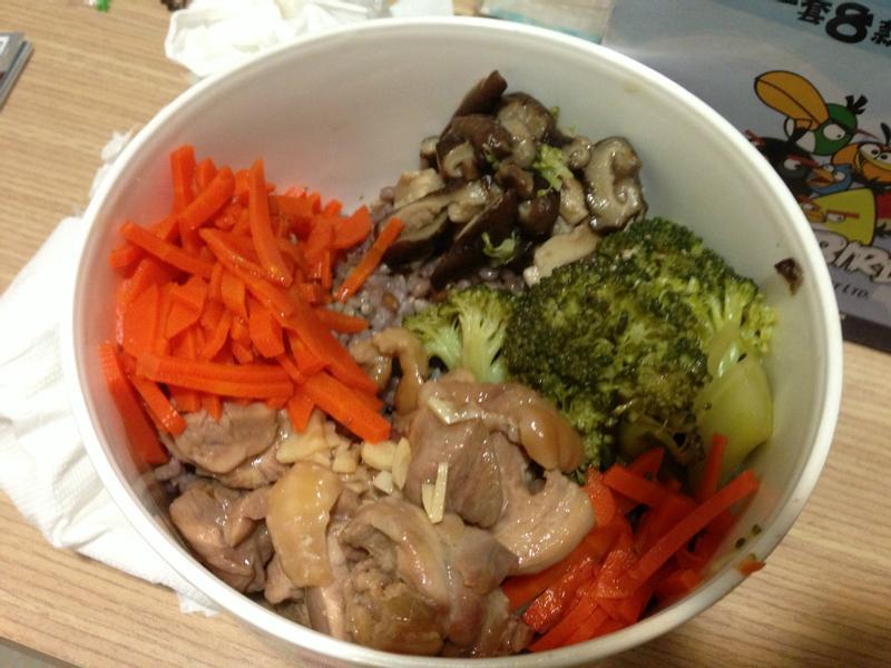 減肥餐--雞肉鮮蔬糙米飯(大同電鍋)