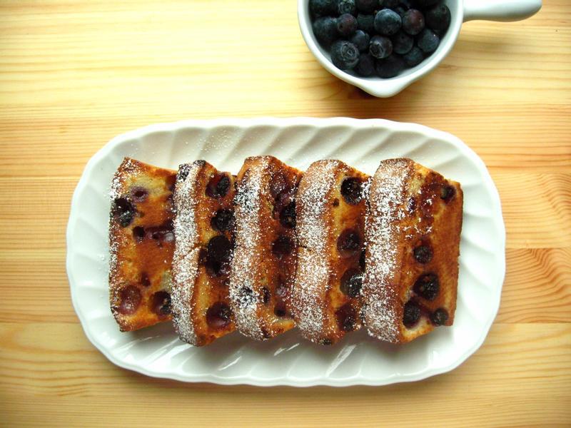 """優格藍莓""""煎""""蛋糕"""