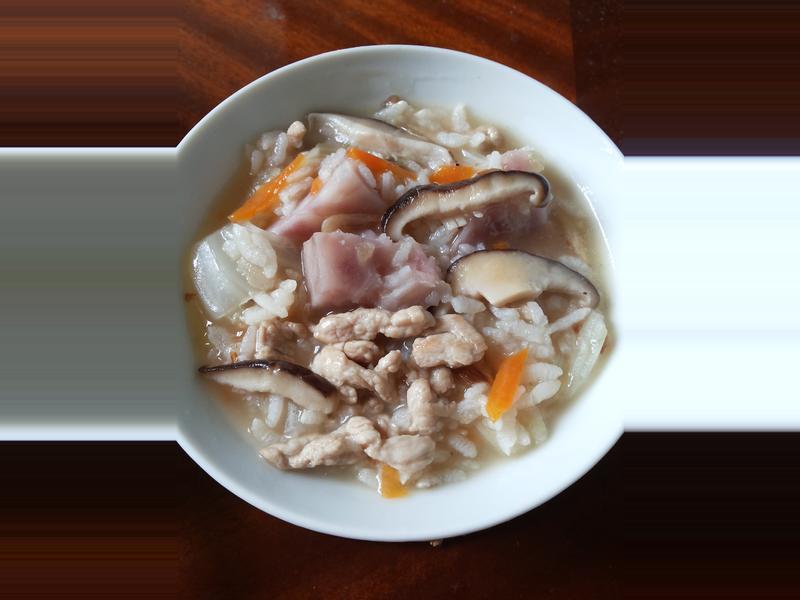 ♥ 古早味芋頭香菇鹹粥