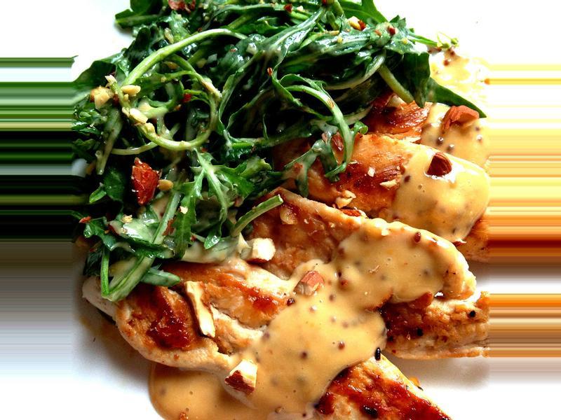 和風芥末芝麻葉雞肉沙拉