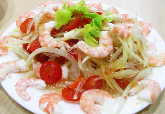 椰子油泰式鮮蝦沙律