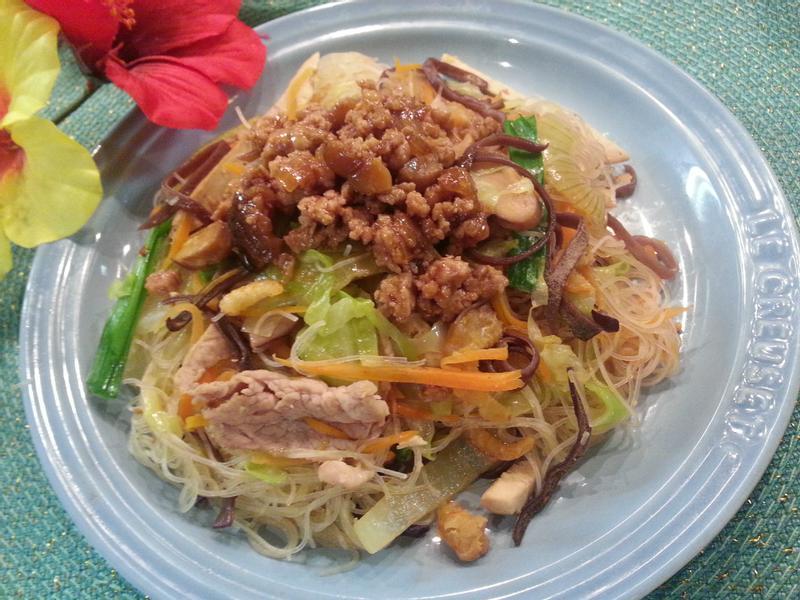 肉燥新竹蔬菜炒米粉