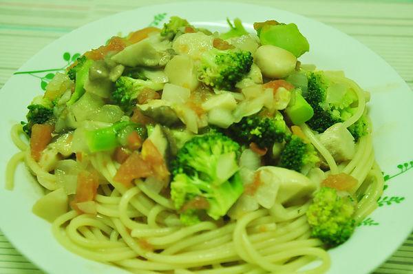 鮮菇野蔬義大利麵
