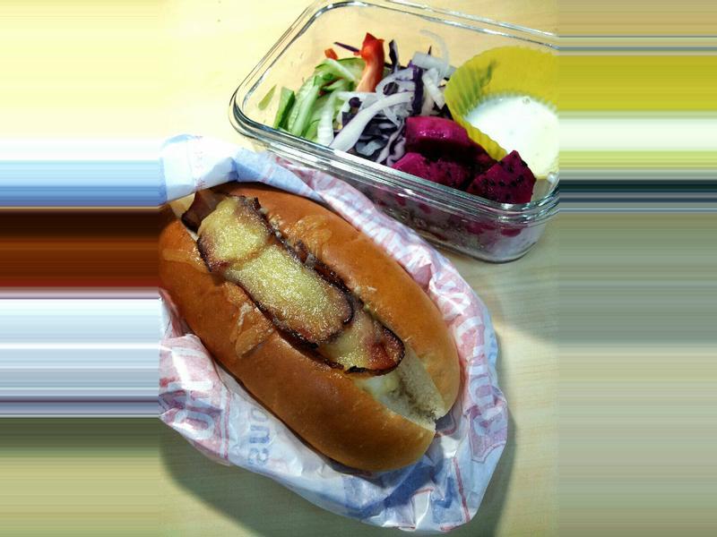 ♥肥肥舒的女王早餐♥培根薯薯起士堡