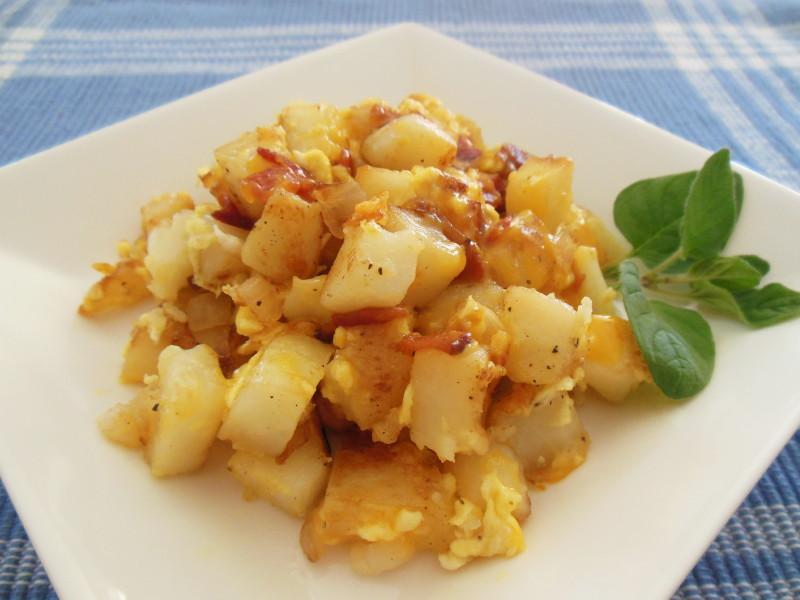 美式早餐炒薯丁