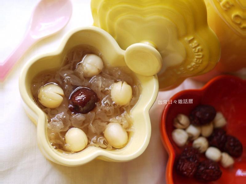 冰糖銀耳蓮子湯&做出像燕窩口感之小撇步