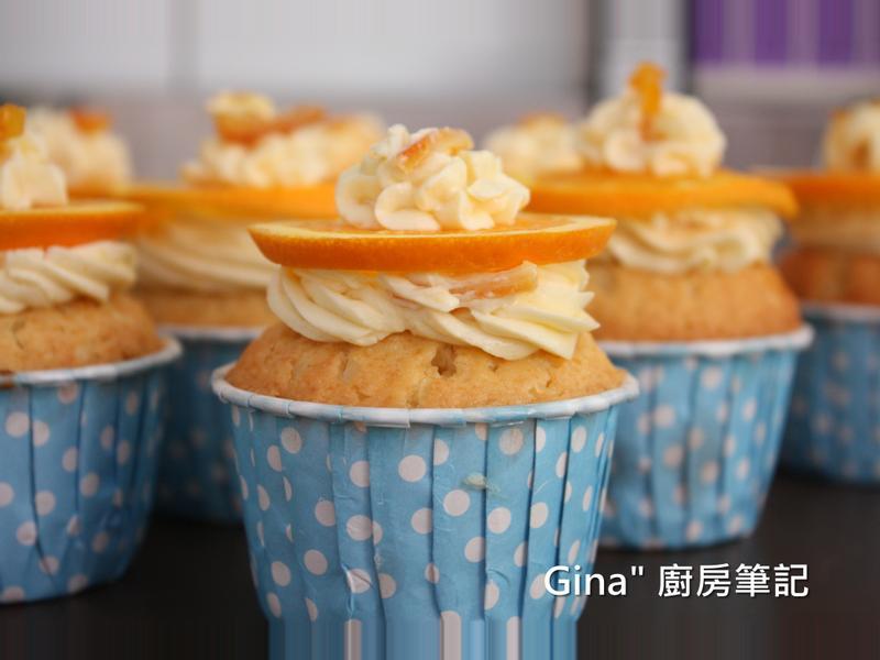 甜橙杯子蛋糕