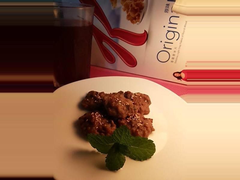 家樂氏Special K香脆麥米片--葡萄巧克力餅乾(不用烤箱)